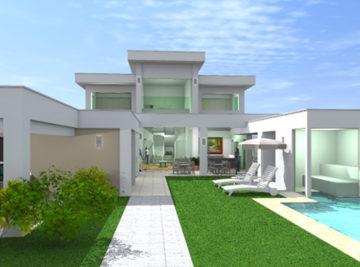 laf construction projeto 3d casa alto padrão beton piscina e sauna