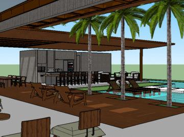 laf construction estudo de viabilidade casa premium condomínio malibu varanda e piscina