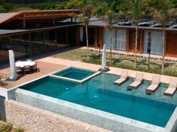 Construção moradia luxo fazenda boa vista com piscina em pedra hijau